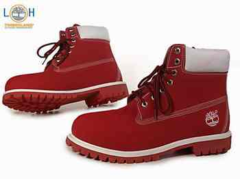 timberland homme red
